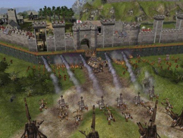 Katapulte sind bei Belagerungen sehr nützlich
