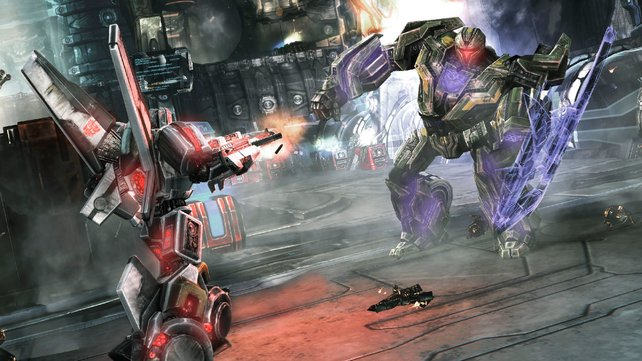 Die Transformers mit Schild sind knackig.