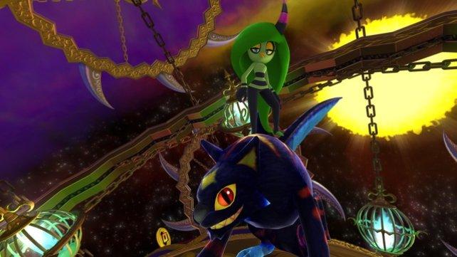 Zeema holt sich für den Kampf gegen Sonic Unterstützung.