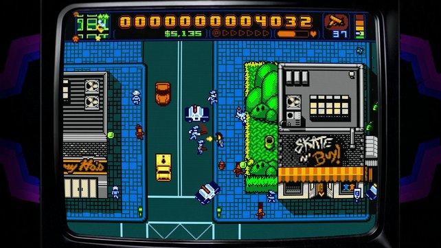 Retro City Rampage sieht aus wie ein echtes 8Bit-Spiel.