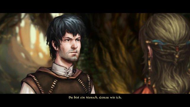Die erste Begegnung von Geron und Nuri fällt verhalten aus, da Geron keine Gedanken an ihre Schönheit verschwenden will.