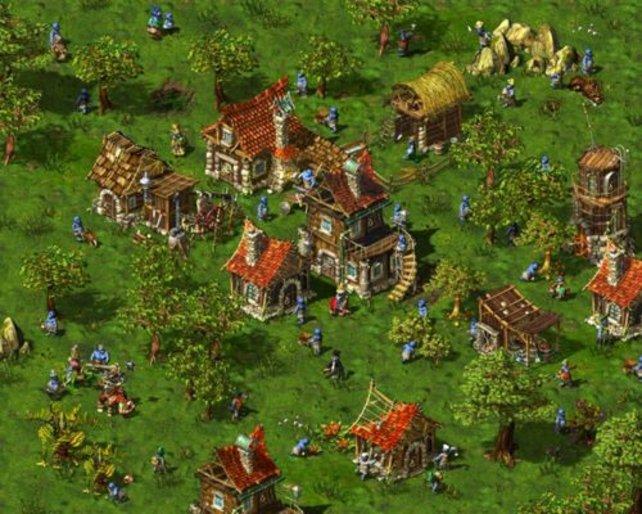 Eine Stadt im Aufbau