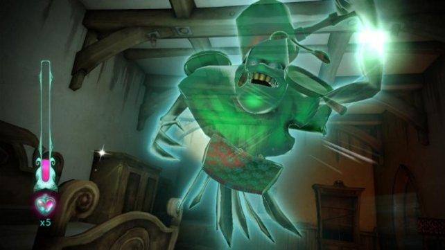 Die transparenten Geister lassen Ghostbusters-Stimmung aufkommen.