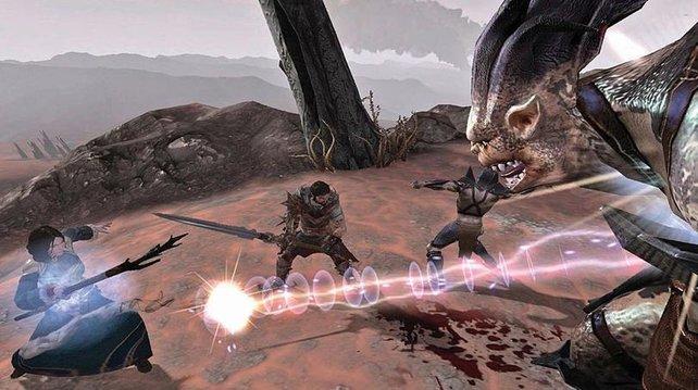 Auch in Dragon Age 2 kämpft ihr als Gruppe.