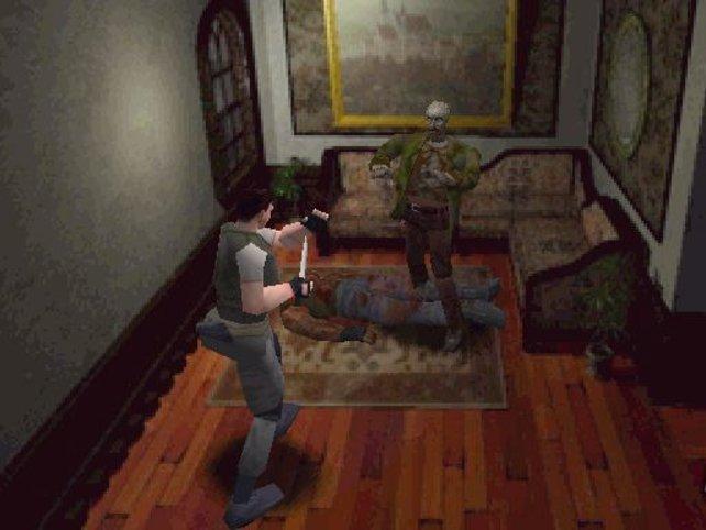 Typisch für Resident Evil: War die Pistolenmunition verbraucht, blieb nur noch das kleine Messer zur Verteidigung.