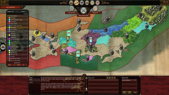 Der Multiplayer funktioniert wie das Brettspiel Risiko: Je mehr Provinzen ihr einnehmt, desto stärker wird eure Armee.