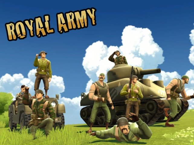 Die Royal Army zieht gegen die National Army in den Krieg