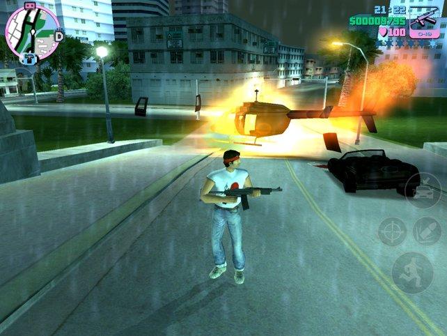 Typisch für GTA ist die offene Stadtkulisse, die zu Chaos und allerlei Verbrechen einlädt.