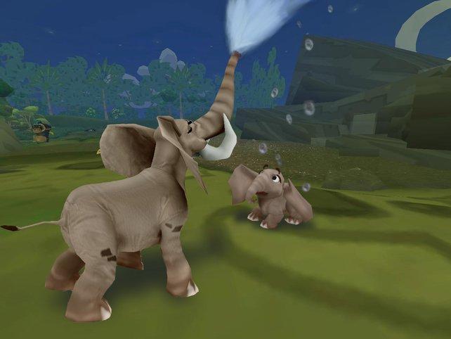 Gießkanne auf Beinen: Elefanten braucht ihr, um bestimmte Ziele zu erreichen.