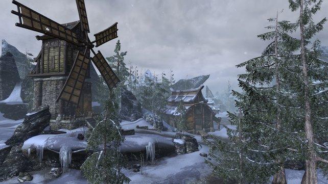 Ihr besucht auch bisher unbekannte Gefilde in den Gegenden von Skyrim und Morrowind.