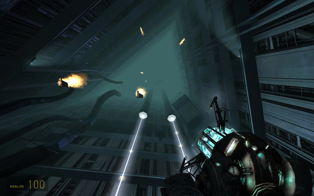 Die Gravity Gun, eine der innovativsten Waffen im Spieluniversum.