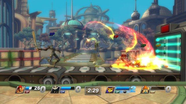 Die Super-Attacken der Charaktere sehen imposant aus.