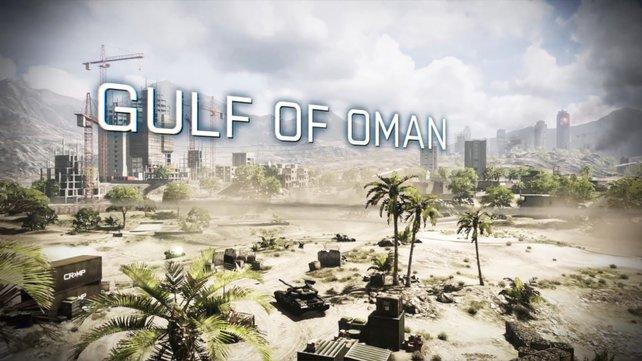 Gulf of Oman ist weitläufiger als Strike at Karkand, bietet dennoch viele vorteilhafte Punkte für Fußsoldaten.