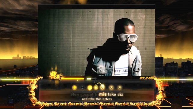 Kanye West zeigt, wie ein Rapstar auszusehen hat.