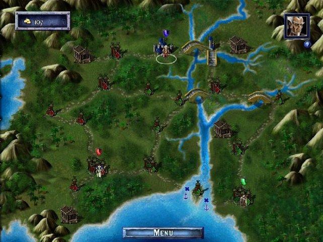 Über die Weltkarte gelangt ihr in das nächste Königreich.