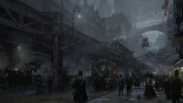 Die Spielwelt von The Order - 1886 wirkt auf ersten Bildern düster, unheimlich und spiegelt die Zeit der Industrialisierung gut wieder.