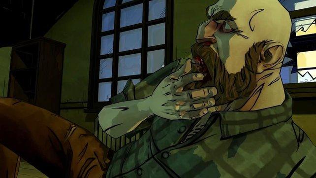 Der Holzfäller greift sich an den Kiefer. Zeit für einen Termin im Krankenhaus.