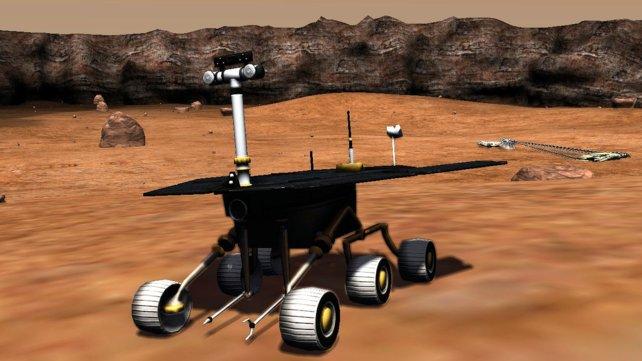 Euer Mars-Rover verfügt über einen Bohrer und einen Greifarm.