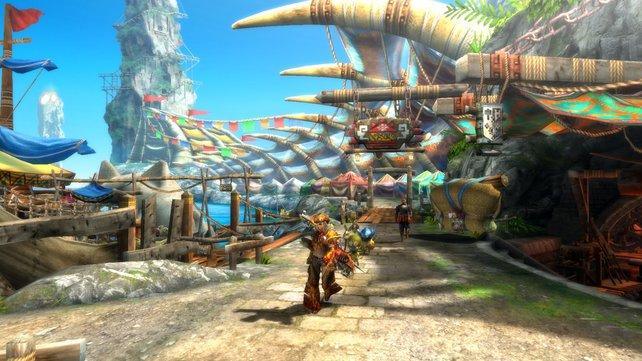 Das neue Monster Hunter wirkt bunter als auf der Wii - sieht dank hoher Auflösung aber besser aus.