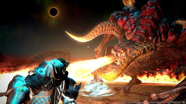 Bei der Schlacht unter einer schwarzen Sonne verlangt euch das Spiel alles ab.
