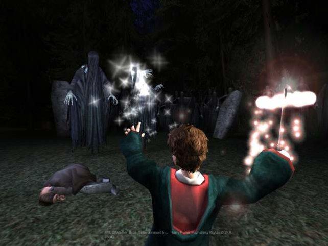 Harry Potter im Kampf mit Dementoren.