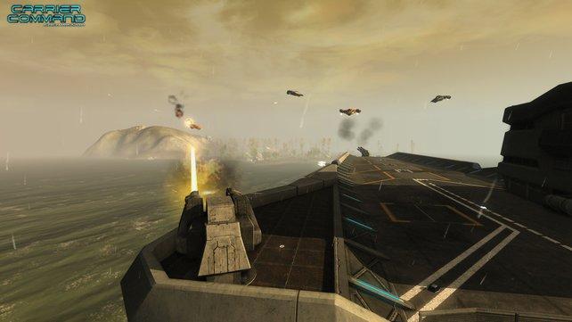 Euren Flugzeugträger setzt ihr im Kampf vielfältig ein.