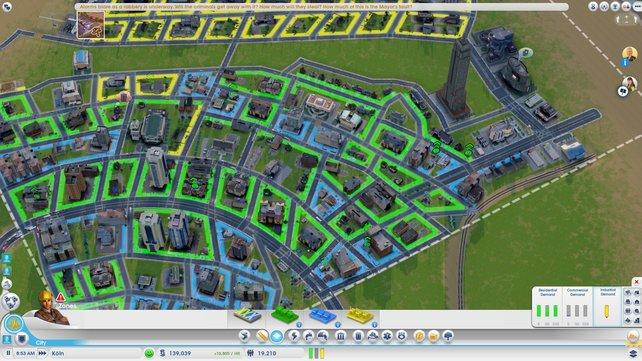 Die kleinen Karten zwingen zum eckigen Städtebau.