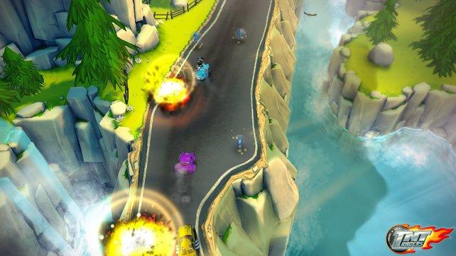 TNT Racers gefällt mit flüssiger Grafik, bunten Farben und viel Action.