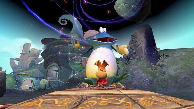 Mit Rayman und seinem Freund Globox ist nicht zu spaßen.