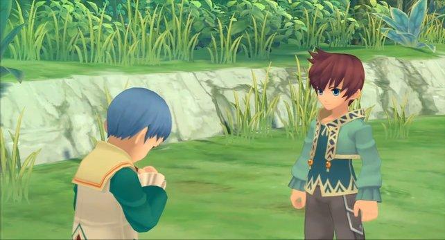 Asbel überredet seinen schüchternen Bruder zu Dummheiten.