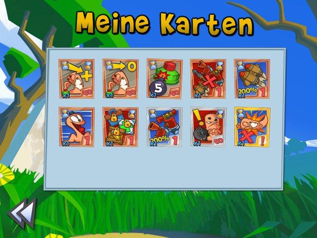 Jedem Spieler steht pro Spiel ein Kartensatz zur Verfügung.