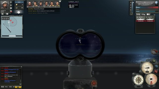 Über Wasser nehmt ihr mit der U-Boot-Zieloptik eure Gegner unter Beschuss.