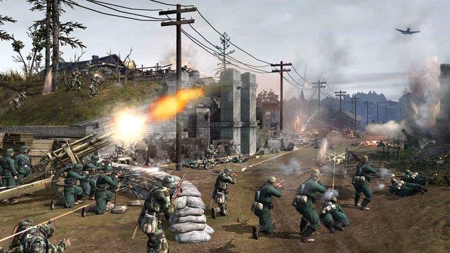 Artillerie, Infanterie, Panzer - all das will für die Front koordiniert sein.