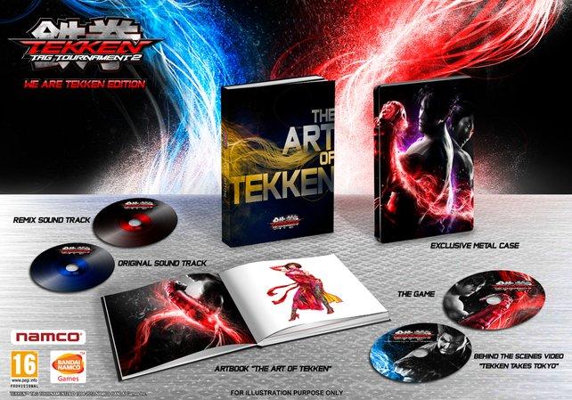 """Die """"We are Tekken""""-Ausgabe von Tekken Tag Tournament 2."""