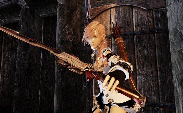 Die ersten selbst erstellten Charaktere und Rüstungen gibt es schon. Hier seht ihr eine Dame aus Final Fantasy.