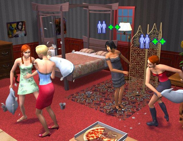 Sims of Joy: Unsere Mitbewohnerinnen während der Großen Pause.