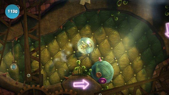 Auch auf PS Vita bleibt Little Big Planet seinem Stil treu.