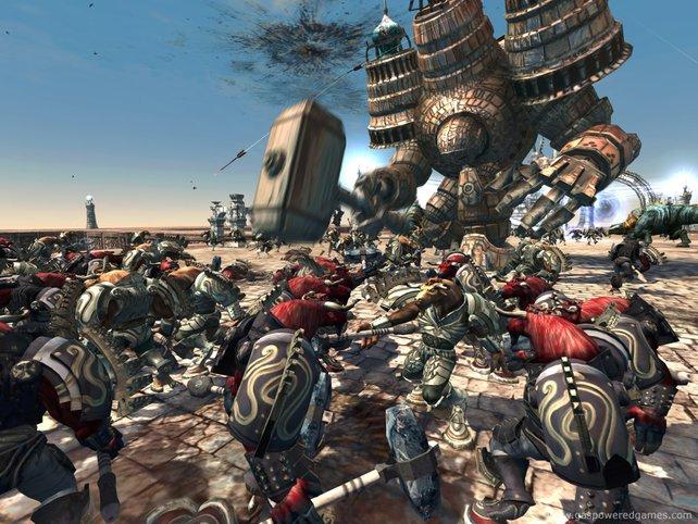 Einer gegen alle, ein Assassine kämpft gegen die Armee eines Generals.