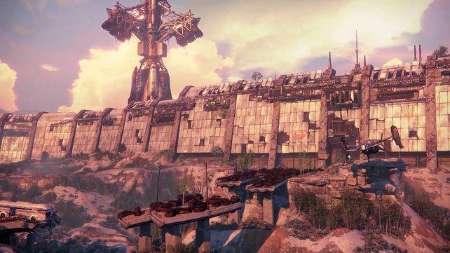 Im Mittelpunkt der E3-Demo steht diese Mauer, die die Koop-Spieler erkunden.