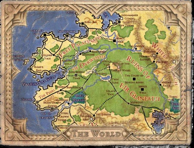 Hier seht ihr die voraussichtliche Karte von Project Eternity.