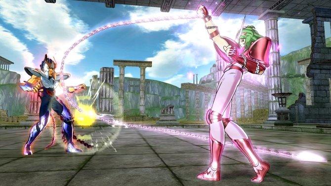 Helden und Schurken mit bunten Haaren und exotischen Rüstungen treten gegeneinander an.