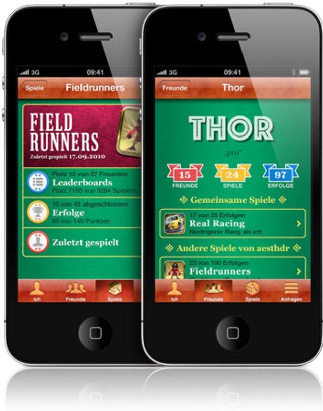 Apples Game-Center ermöglicht Belohnungen und Mehrspieler-Duelle mit Freunden.