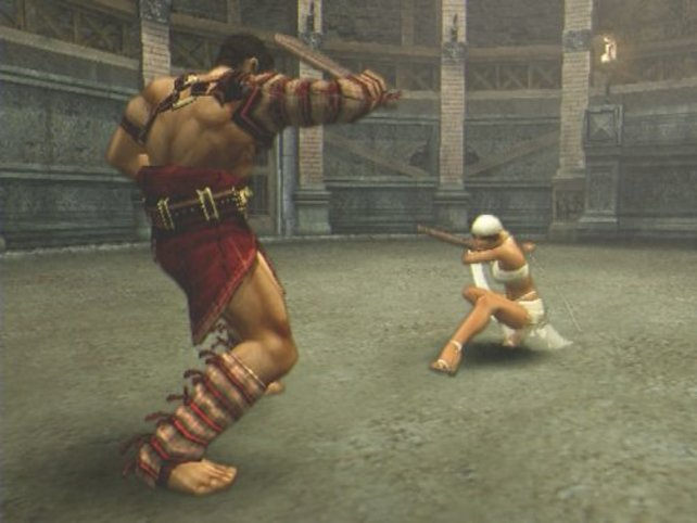 Bevor ihr als Gladiator aufgenommen werdet müsst ihr noch einen kleinen Schaukampf gewinnen.