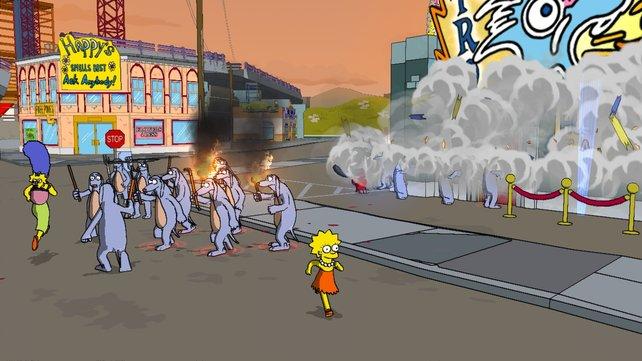 Marge hat mal wieder einen Mob um sich versammelt.