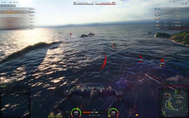 In den Luftkämpfen ist es wichtig, dass euer Flugzeug direkt auf eure Eingaben reagiert. Das Meer sieht gut aus, oder?