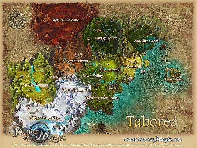 Die neue Karte inklusive der drei neuen Gebiete im Norden.