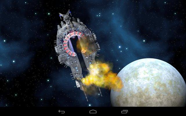 Im Verlauf von Crashsite Defense stürzt euer Kreuzer auf einem Planeten ab.