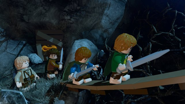 Die Hobbits auf der Wetterspitze. Noch haben sie gut lachen.