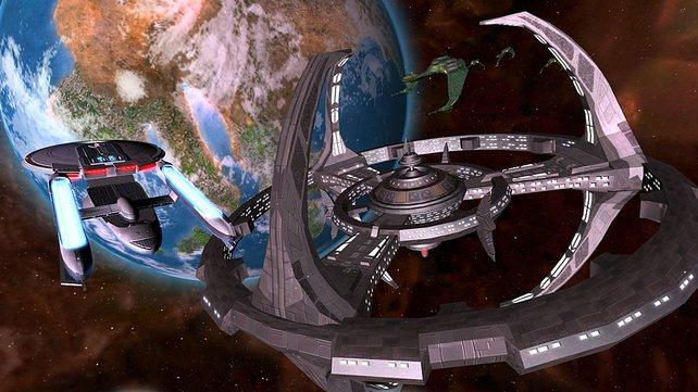 Eine Raumstation der Förderation