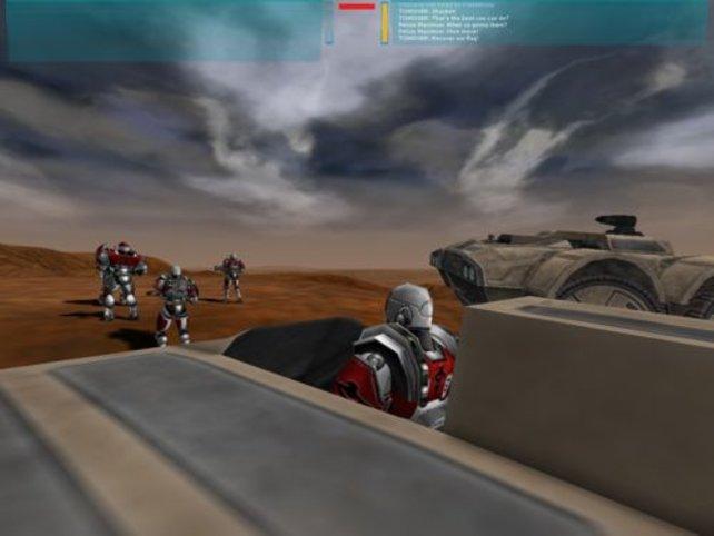Panzer beim Vorrücken Richtung Feind